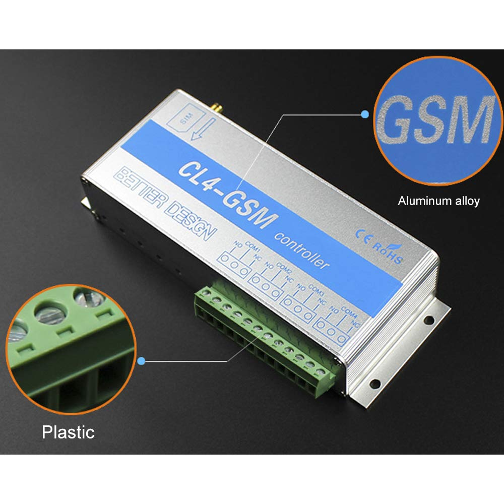 850//900//1800//1900 MHz KKmoon Mando a distancia GSM inal/ámbrico de 4 canales
