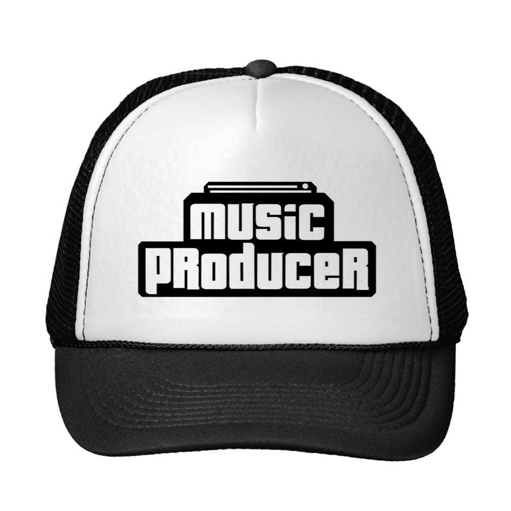 Smity 106 Customizable Music Producer Trucker Hat Black