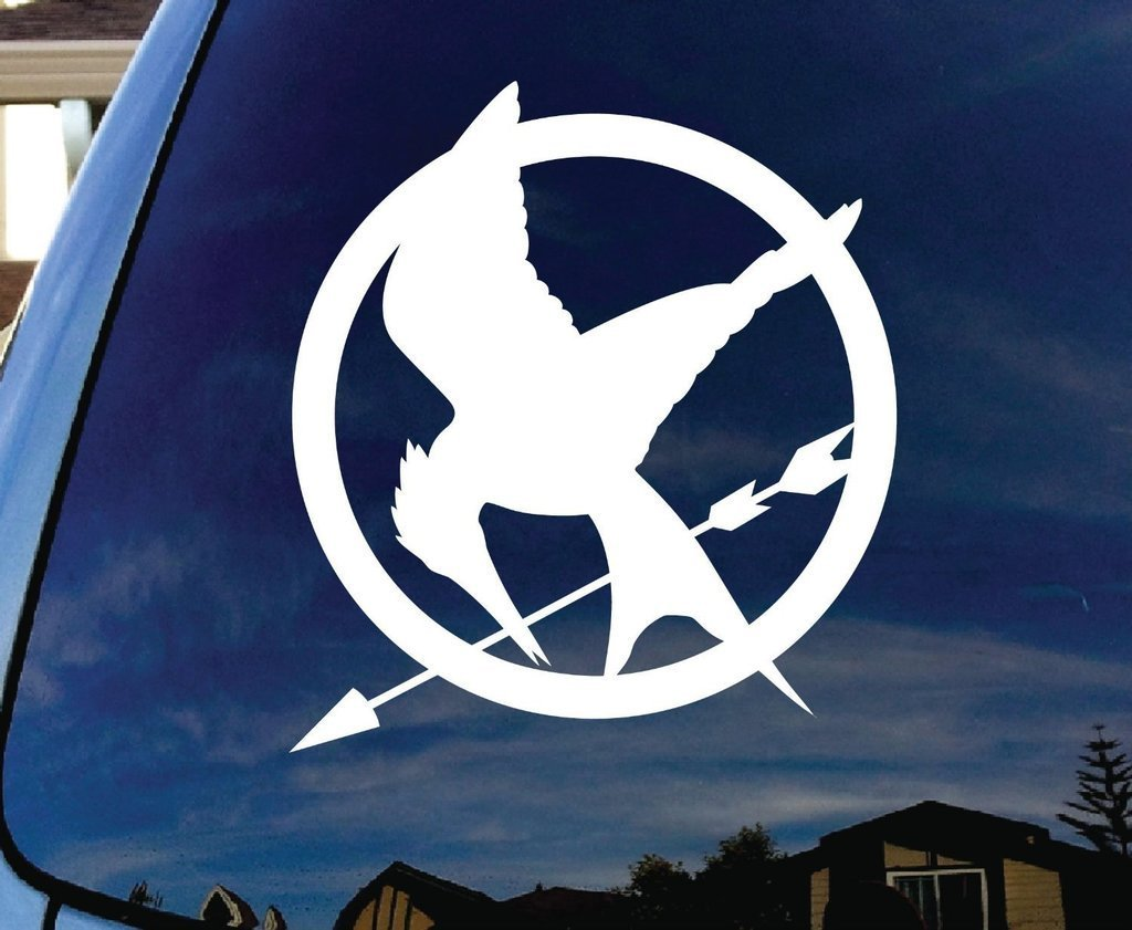 CCI172 Mockingjay Hunger Games Car Window Vinyl Decal Sticker 4 Wide/…
