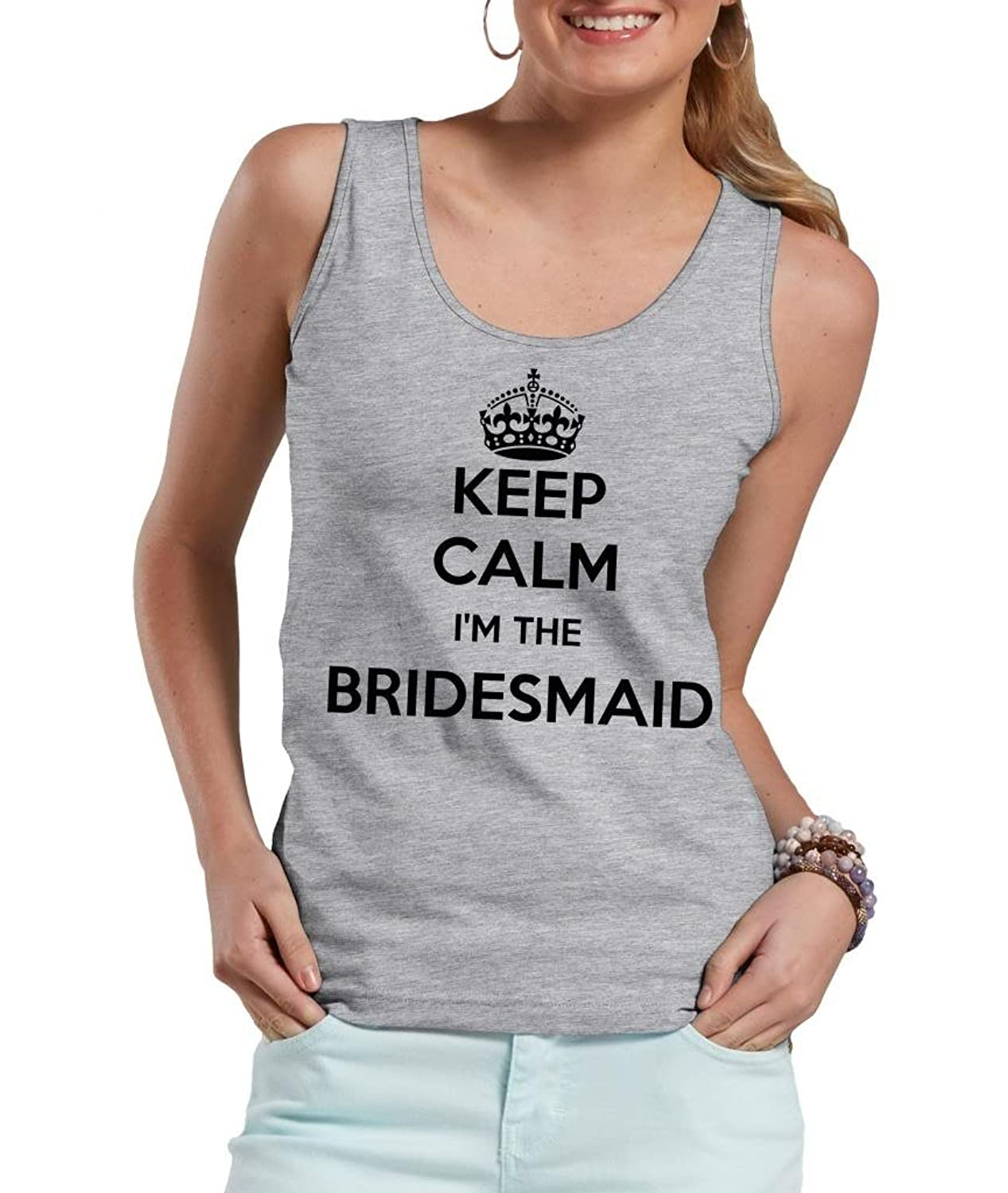 Keep calm and I am the bridesmaid Tank top