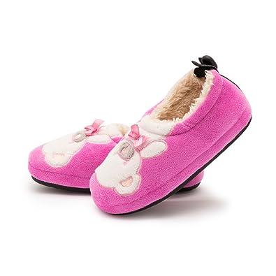 Amazon.com | Kenroll Kids Cute Cozy Fleece House Slippers | Slippers