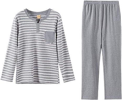 Pijamas Los Algodón A Rayas De La Moda Juvenil De Los Hombres ...