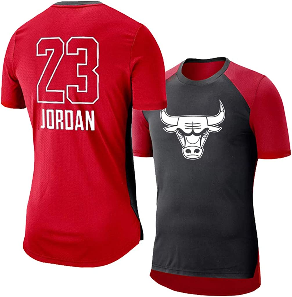 Chicago Bulls Michael Jordan Hombre Camisetas de Fitness Compresión Ropa Deportiva Deportes de Secado Rápido Manga largaManga Corta Correr, Baloncesto, Ejercicio,Gimnasio: Amazon.es: Ropa y accesorios