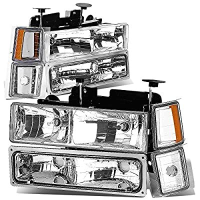 DNA Motoring HL-OH-8P-C1094-CH-AM Headlight Assembly: Automotive