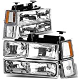 DNA Motoring HL-OH-8P-C1094-CH-AM Headlight Assembly