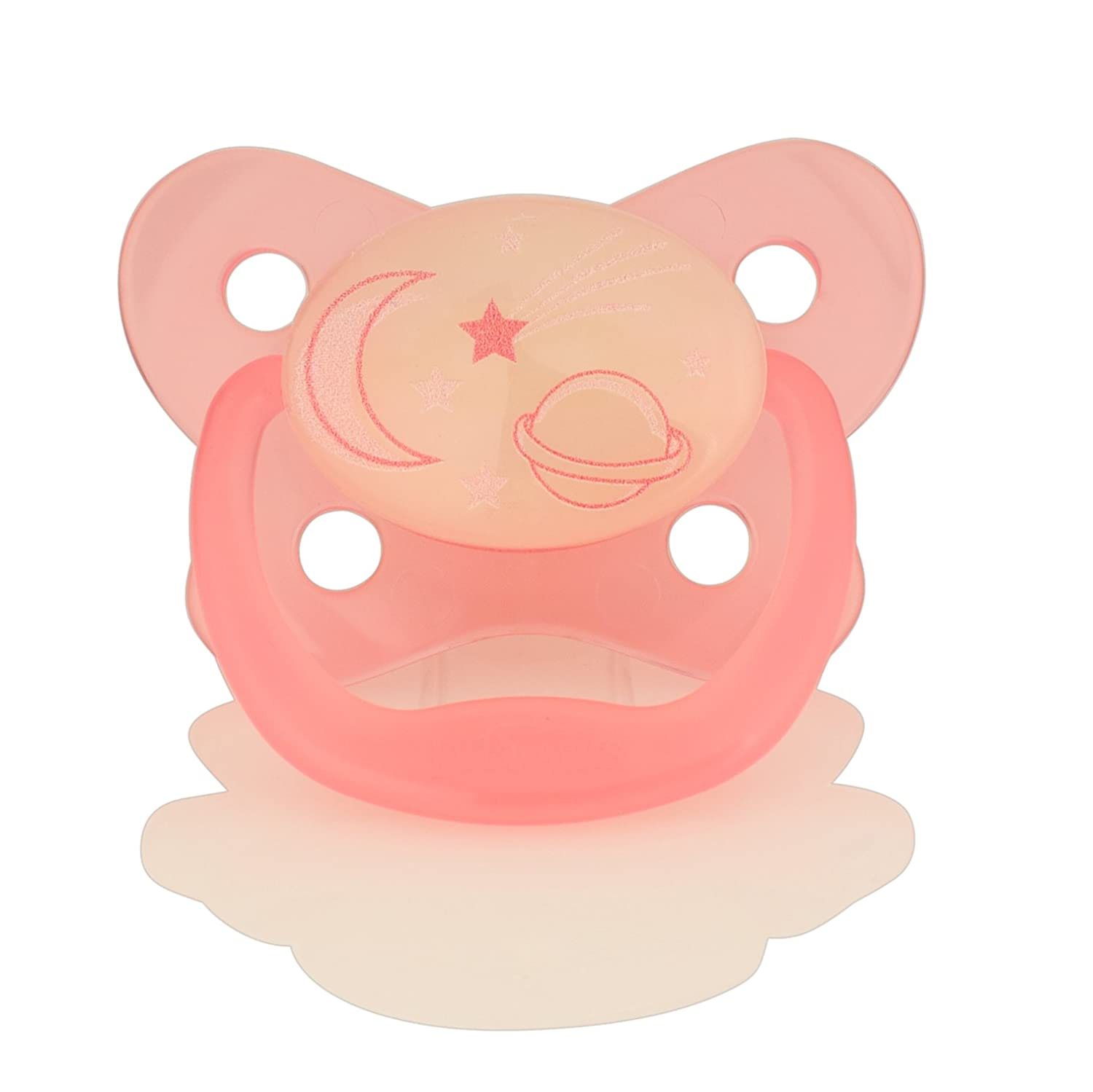 Moon and Stars Pink 6 to 12 Months Dr Browns Prevent Glow in The Dark Soother