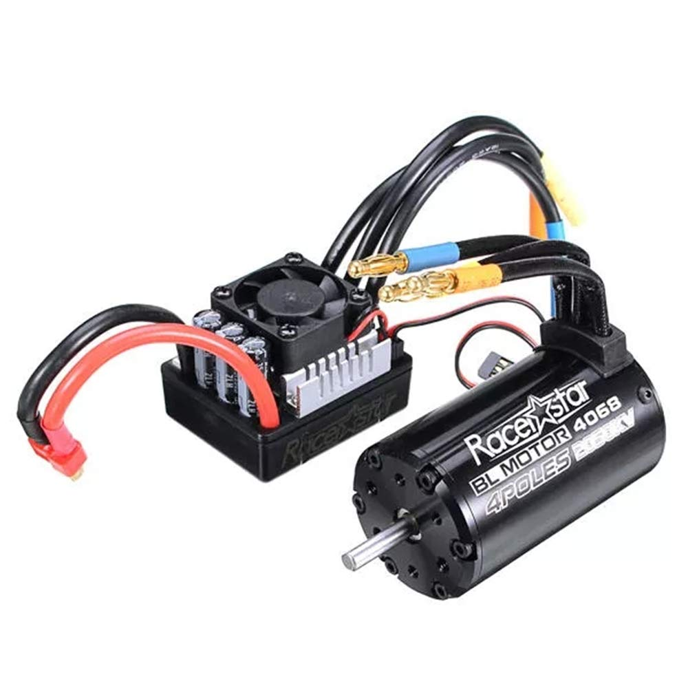 DUJIE Racerstar 4068 Brushless Waterproof Sensorless Motor 2050KV 120A ESC For 1 8 Cars RC Car Parts
