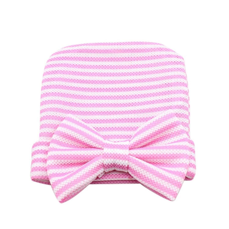 Baby-Hut DDLBiz® Newborn Niedlich Stripe-Bogen-Baby-Jungen-Hut