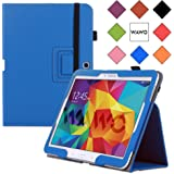 WAWO Samsung Galaxy Tab 4 10.1 Inch Tablet Smart Cover Creative Folio Case (Blue)