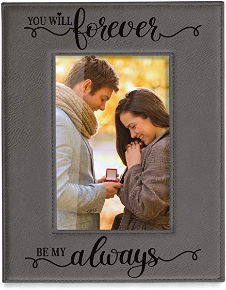Picture frame boyfriend gift engagement frame personalized gift couple picture frame you will forever be my always
