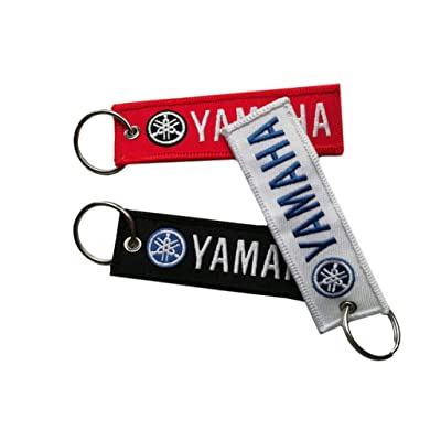 3 Pcs in Set Keychain Double Sided for Motorcycles, Jet tag Keychain Scooters, Cars and Gifts (Yamaha): Automotive