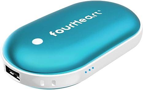 Four Heart Handw/ärmer Powerbank 5200mAh 4 Temperaturstufen wiederaufladbare Taschenw/ärmer USB Double-Side elektrisch Handw/ärmer f/ür Frauen Mann im Winter