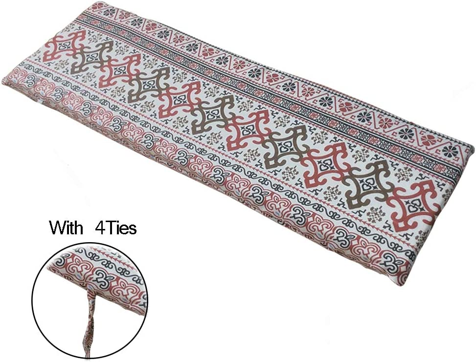 Seat Pad Mat Replacement Two Swing Seater-87 28cm-style1 Garden Seat Cushion with Fixing Strap and Removable Cover Yuly Indoor Outdoor Bench Cushion Pad
