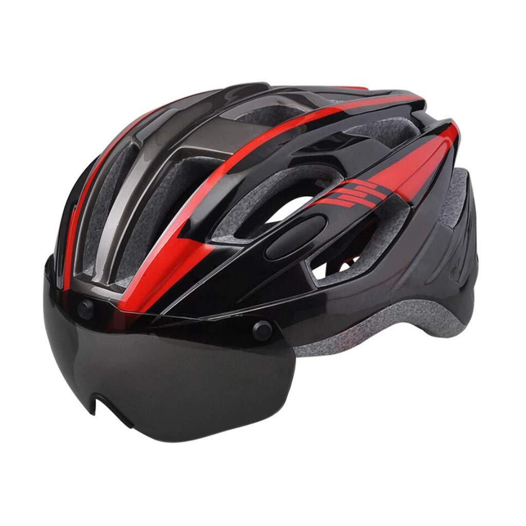 国内発送 ヘルメット 赤 ヘルメット マウンテンサイクルヘルメットオフロードバイクヘルメット軽量専門男性女性乗馬ヘルメットバイクレーシング安全キャップ付きゴーグルA B07PXSGTJQ B07PXSGTJQ 赤, 宇和海群青 ちりめん 木嶋水産:c89a7cc7 --- a0267596.xsph.ru