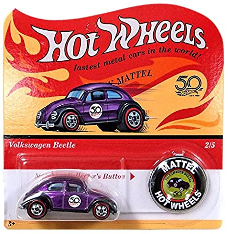 Hot Wheels 2018 50th Anniversary Originals 2 5 Volkswagen Beetle Purple With Button