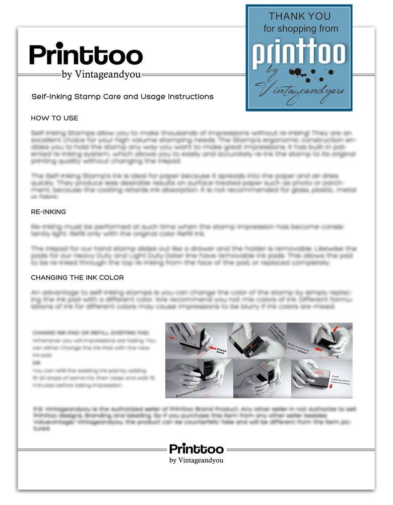 Auto Inchiostrazione Timbro COLOP Stamper Fino a 5 righe di testo personalizzato 23 millimetri x 59 millimetri