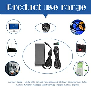 AC DC Adapter,Power Supply 24V 3A Power Adapter,Switching Power Supply 24VDC Led Power Supply LED Driver for LED Strip Light 72W Max 5.5x2.1mm US Plug,UL Listed AC to DC 24V Power Adapter Transforme (Color: Black power adapter 24v power supply, Tamaño: 24V 72W power supply)