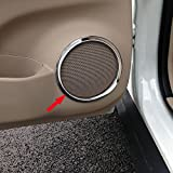 Beautost Chrome Door Speaker Sound Cover Trim Ring Fit For Nissan X-Trail Rogue 2014 2015 2016 2017