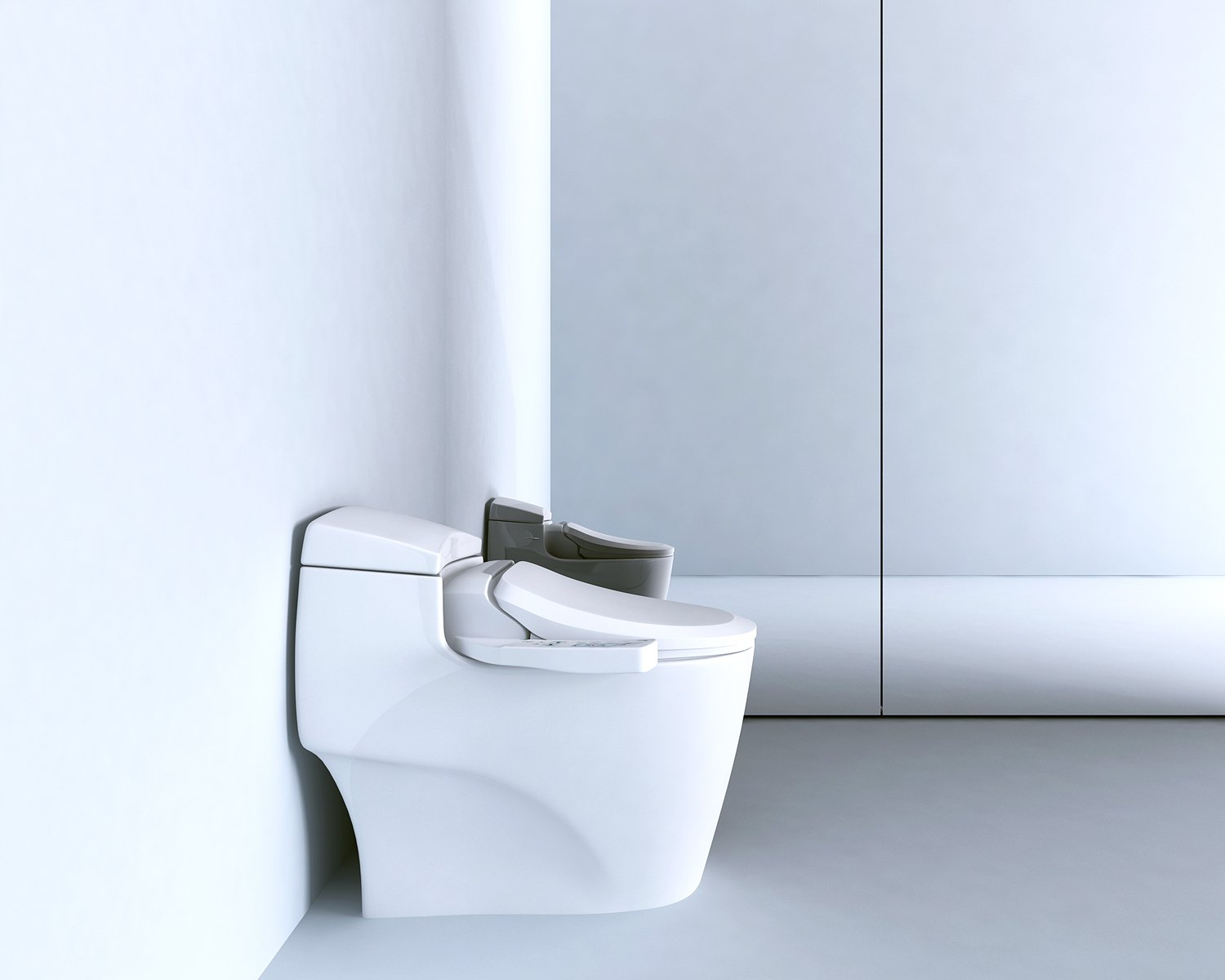 Bio Bidet Ultimate BB-600 Advanced Bidet Toilet Seat, Elongated White. Easy DIY Installation, Luxury Features From Side Panel, Adjustable Heated Seat and Water. Dual Nozzle Has Posterior and Feminine Wash by BioBidet (Image #4)