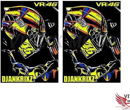 VITCIK Adhesivos para Cascos de Moto, calcomanías para Motos ...