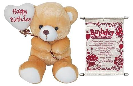 Buy Teddy Bear Soft Toy Teddy Best Birthday Gift With Scroll