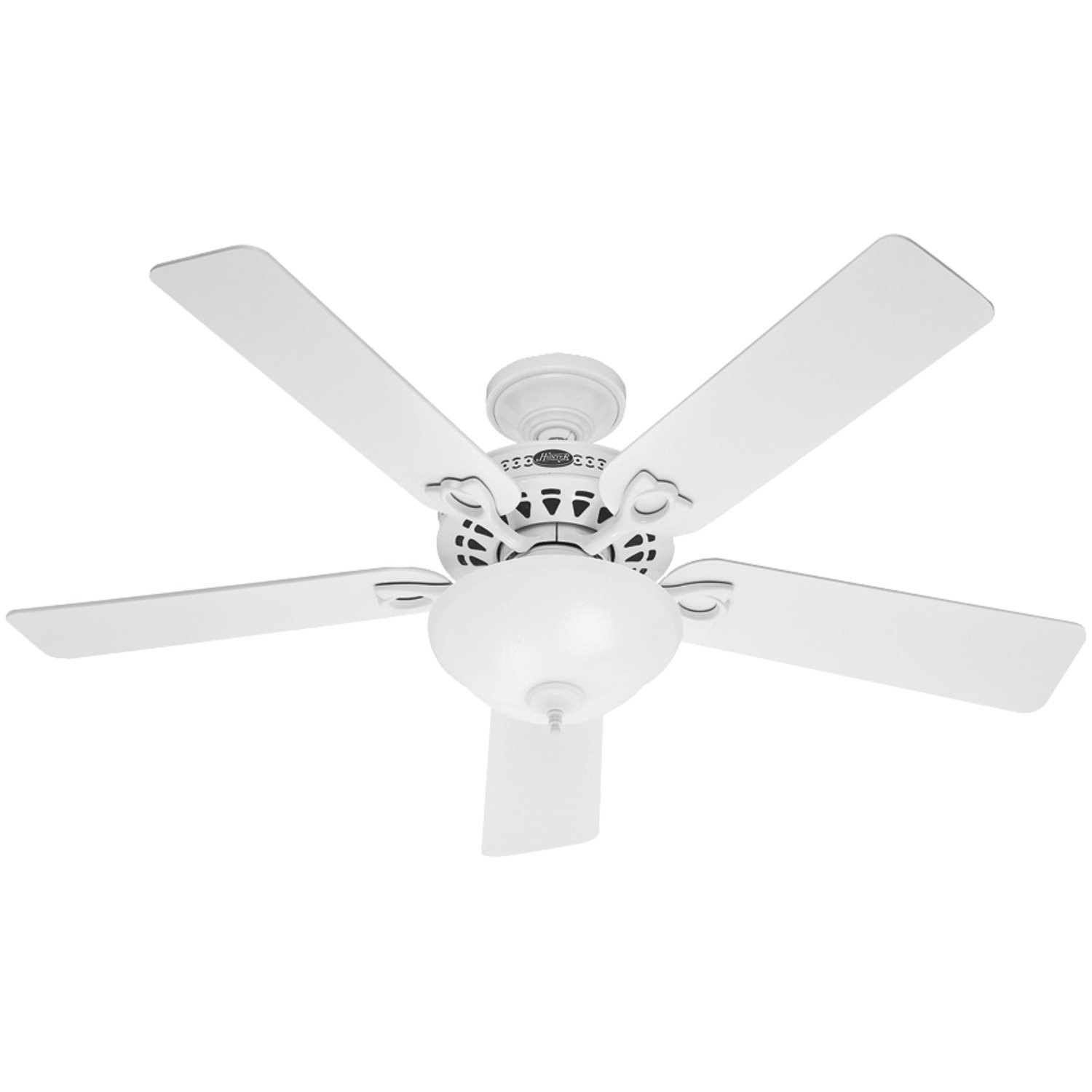 Hunter The Astoria 52 inch White Ceiling Fan with Five White