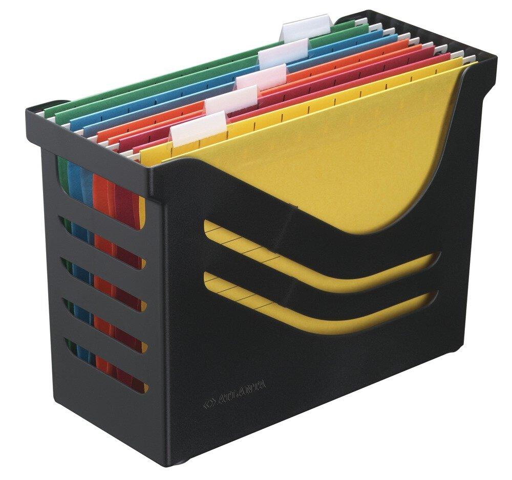Jalema 265802626992 Re- Solution Office Box bleu avec 5 dossiers suspendus A4 couleurs assorties