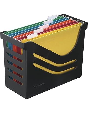 Jalema Atlanta Res - Caja reciclada para archivos (incluye 5 archivos de varios colores)