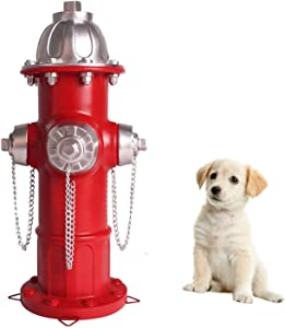 CHOiES record your inspired fashion Dog Fire Hydrant Statue with 4 Stake,Puppy Pee Post Training Statue,Outdoor Large Fire Hydrant Statue Garden Patio Ornament Decorations 14 inch Tall