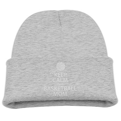 ZWZ Keep Calm I'M A Basketball Mom Kid's Hats Winter Funny Soft Knit Beanie Cap, Unisex