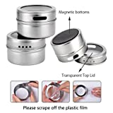 Magnetic Spice Tins with Spice Rack 304 Stainless