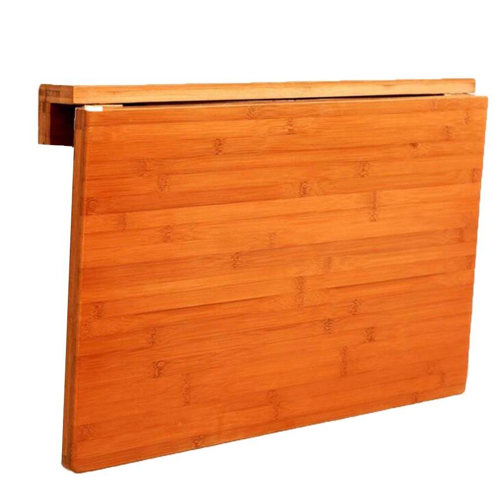 XW 折りたたみテーブル ウォールマウント型ドロップリーフ折りたたみテーブルオリジナルバンブーラウンドエッジデザインin (サイズ さいず : 70*45cm) B07F3533FV70*45cm