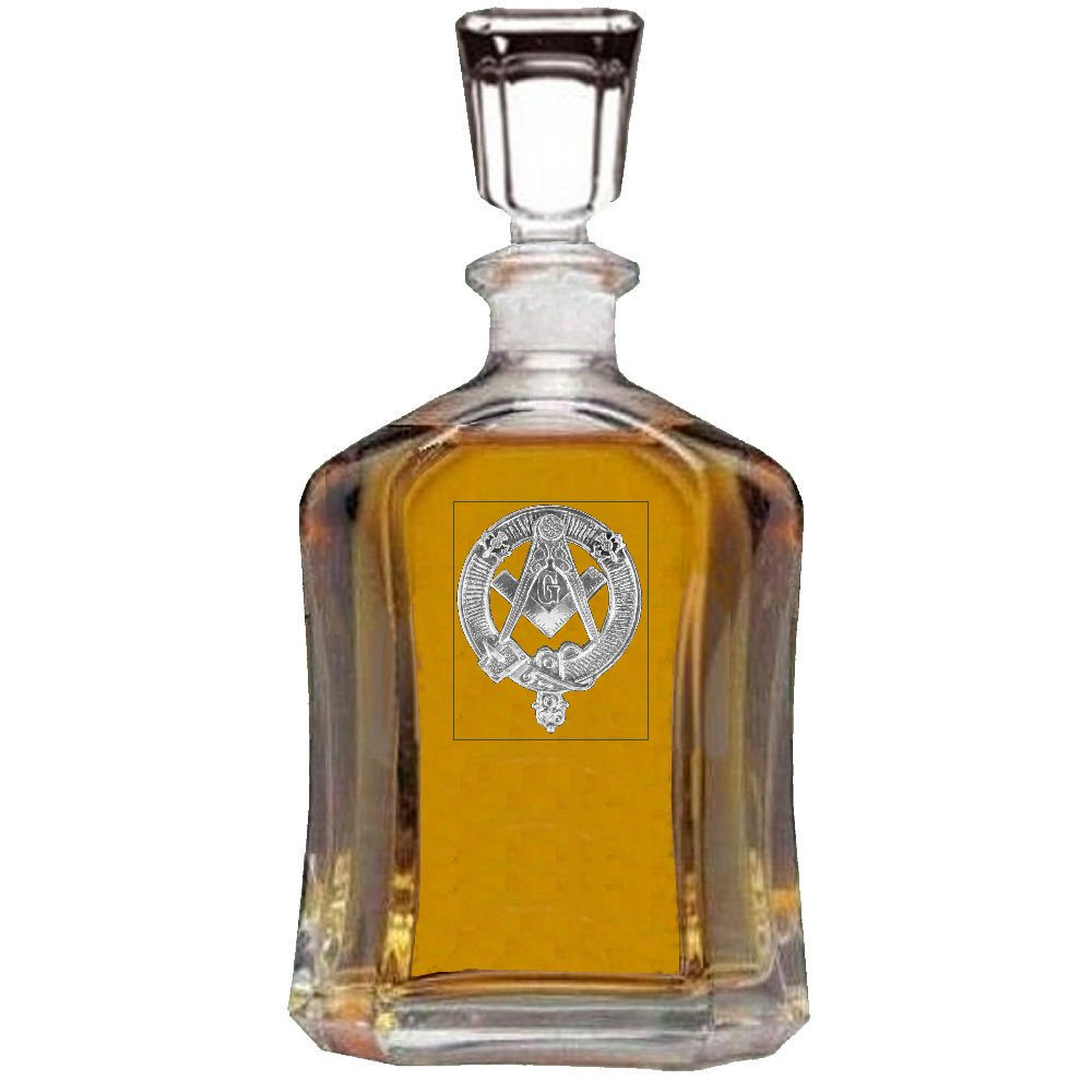 Masonic Scottish Badge Decanter