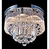 Good Saint Mossi Chandelier Modern K Crystal Raindrop Chandelier Lighting Flush mount LED Ceiling Light Fixture Pendant