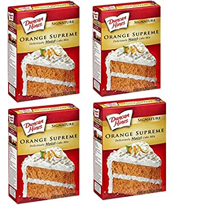 Duncan Hines Signature Supreme Orange Cake Mix, 16.25 Ounce. (Pack of 4) Convenient One-Stop Shopping for This Exceptional Cake Mix.