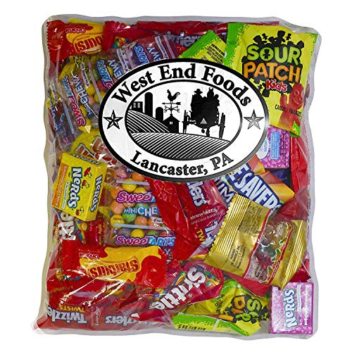 Candy Treats (2 pounds) of Individually Wrapped Candy: Life Savers, Skittles, Starburst, Swedish Fish, Twizzlers, Nerds, Sour Patch Kids ()
