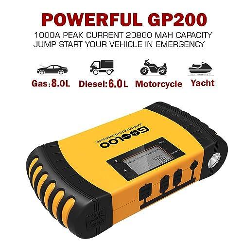 Best GOOLOO SuperSafe Car Jump Starter GP200