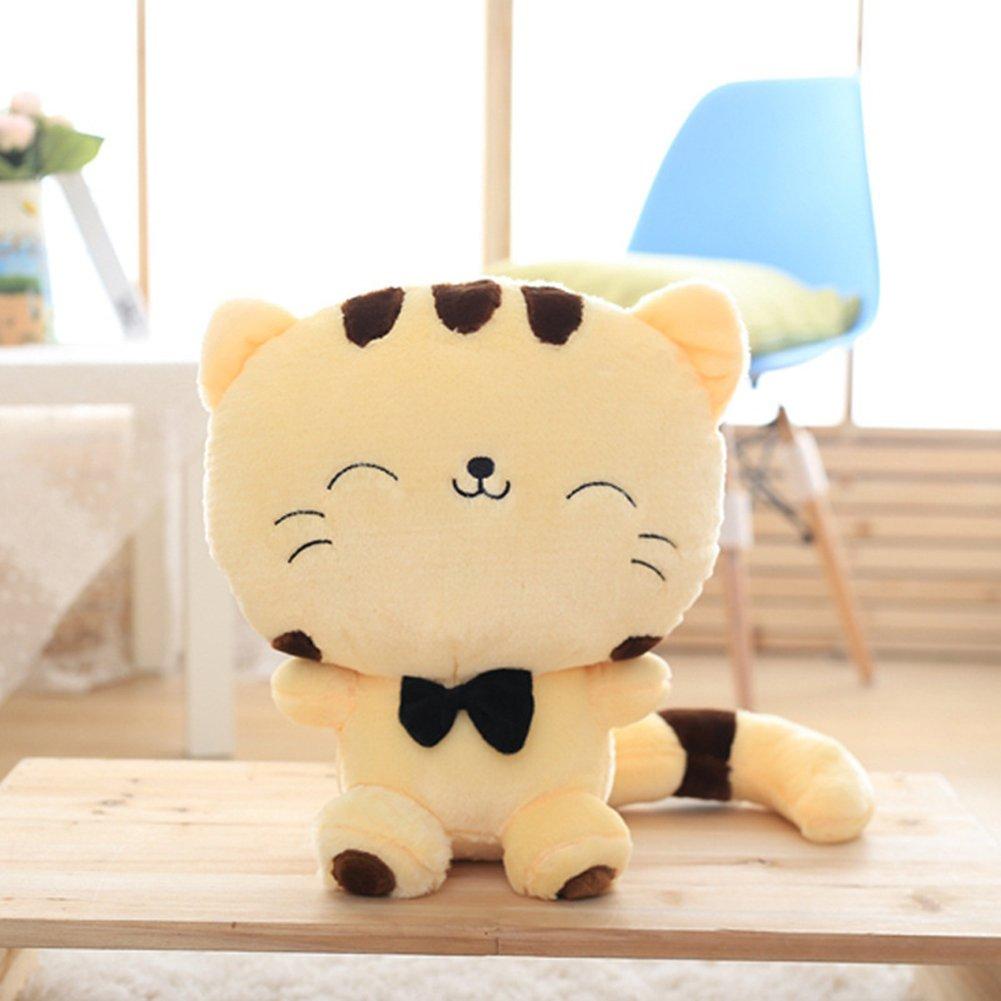 Amazon.com: Cute Cartoon Cat Plush Big Tail Fat Face de ...