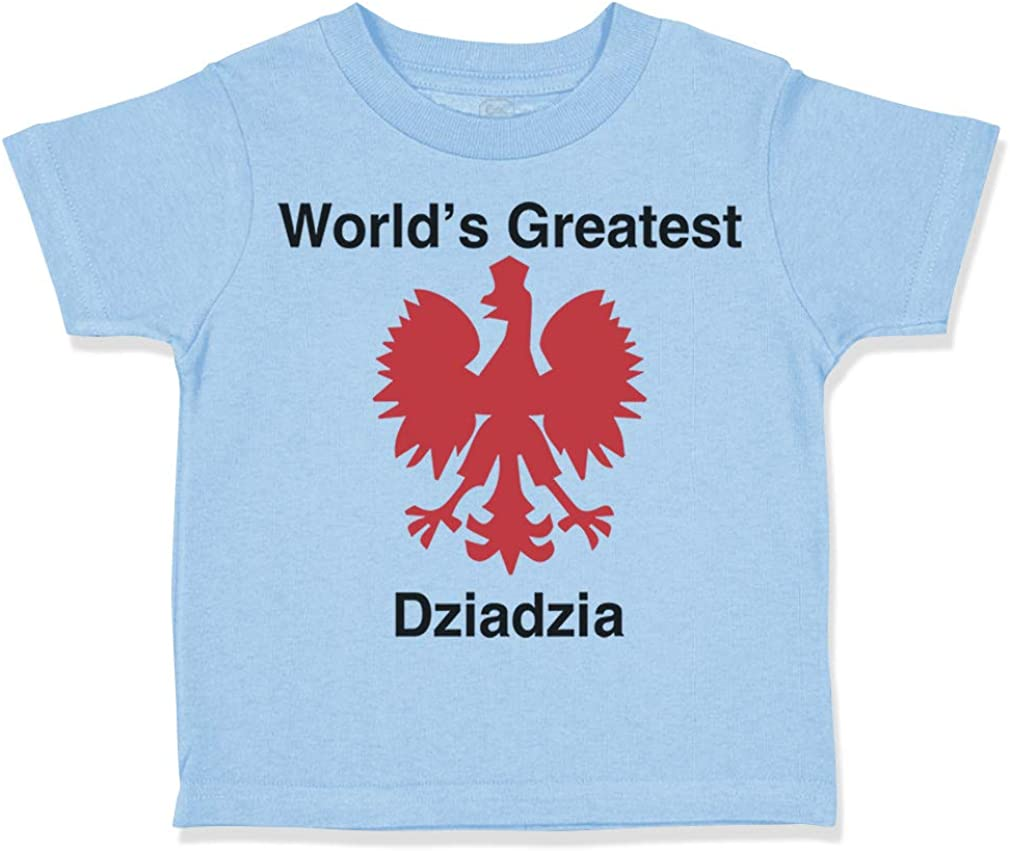 Custom Toddler T-Shirt Worlds Greatest Dziadzia Cotton Boy /& Girl Clothes