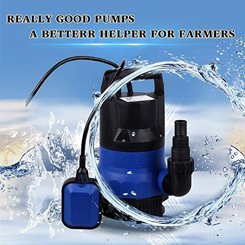 Professional 400W 1/2 HP Submersible Sump Pump 110V 2115GPH Energy Saving Clean Water Pump for Home, Swimming Pool Pond US STOCK (blue) by Dtemple (Image #2)