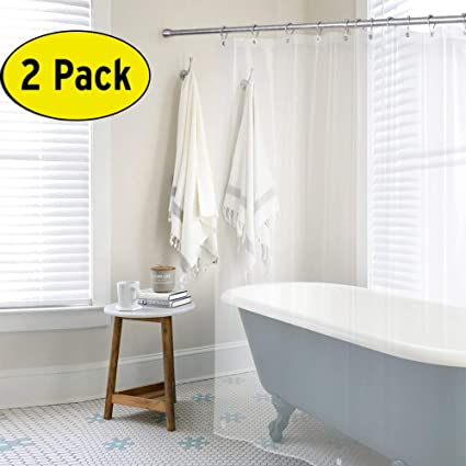 Amazon.com: Amazer PEVA 4G Shower Curtain Liner (Pack of 2) with ...