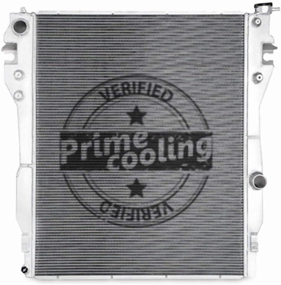 Primecooling 38MM 2 Row Core Aluminum Radiator for 2010 2011 2012 Dodge Ram 1500 2500 3500 4500 5500 6.7L L6 Diesel