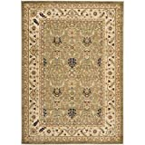 Safavieh Austin Collection AUS1620-5211 Traditional Oriental Green and Cream Area Rug (4′ x 5'7″)