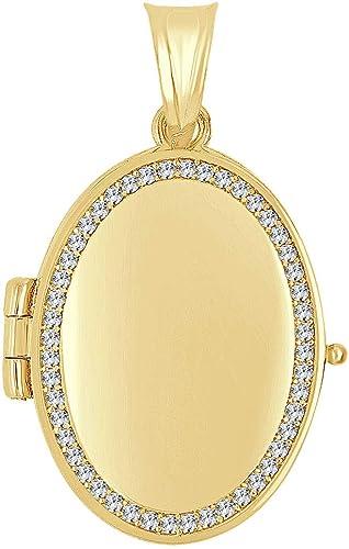 14K Yellow Gold Oval Shaped Locket