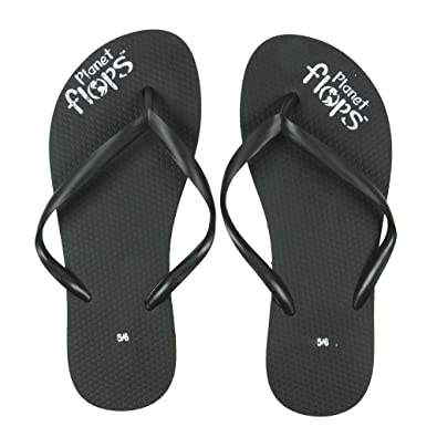 210837045111d7 Planet Flops Licorice (Black) Thin Strap Flip-Flops  Incredibly  Comfortable