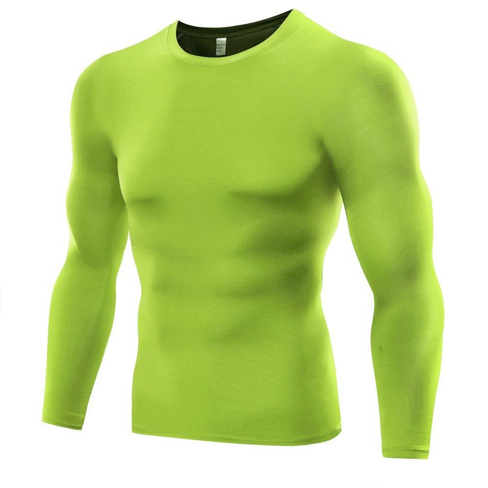 Etopfashion Herren Langarm Kompressions Funktionsshirt Fitness Sweatshirt