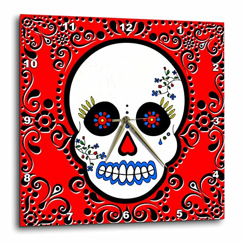 3dRose Day of The Dead Skull Dia De Los Muertos Sugar Skull