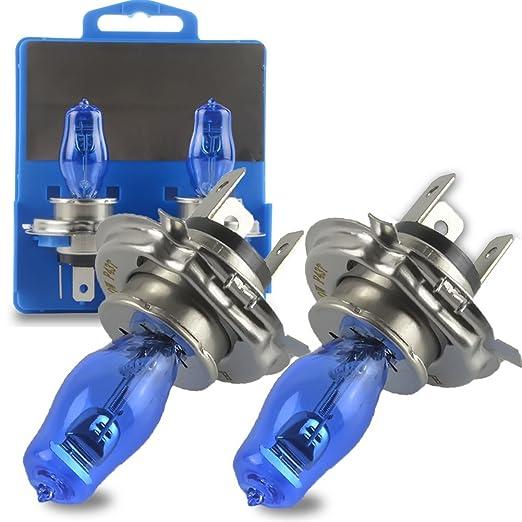 2 opinioni per Safego 2Pcs H4 Hi/Lo Lampada Alogena Proiettori Faro Auto 12V 100W/90W HID Xenon