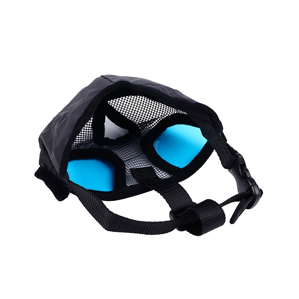 Petneces Dog Muzzles, Soft Mesh Muzzles Mouth Mask for Dog, Best to Anti Barking and Biting, Allows Nose Breath Easily(L, Grey) by Petneces (Image #7)