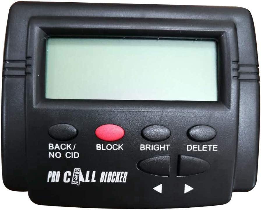 Pro Incoming Call Blocker Telephone Defense with LCD Display 1500 Blacklist Numbers